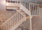 escalier sapin 2 volées avec palier intermédiaire